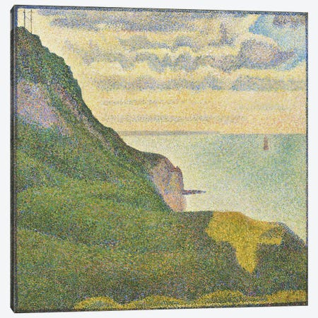 Seascape at Port-en-Bessin (Normandy) Canvas Print #1883} by Georges Seurat Canvas Art