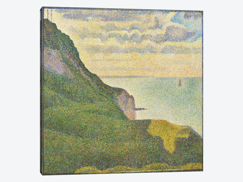 Seascape at Port-en-Bessin (Normandy) by Georges Seurat 1-piece Canvas Wall Art