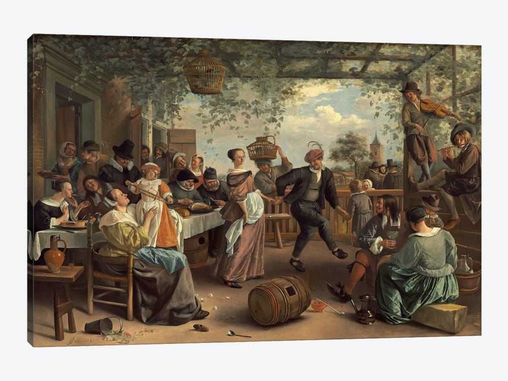 The Dancing Couple by Jan Steen 1-piece Canvas Art Print