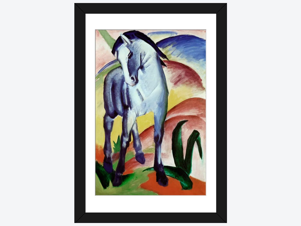 Blue Horse Framed Art Print By Franz Marc Icanvas