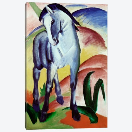 Blue Horse Canvas Print #1892} by Franz Marc Canvas Art Print