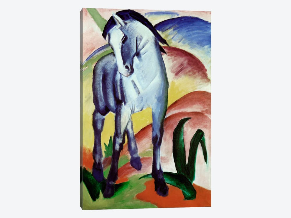 Blue Horse by Franz Marc 1-piece Canvas Artwork