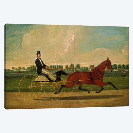 Trotting Horse Canvas Print #1894} by Charles Humphreys Canvas Art