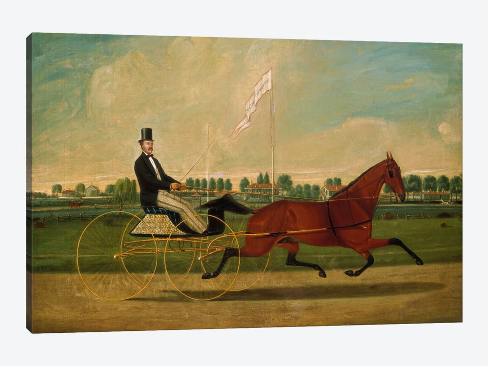 Trotting Horse by Charles Humphreys 1-piece Canvas Wall Art