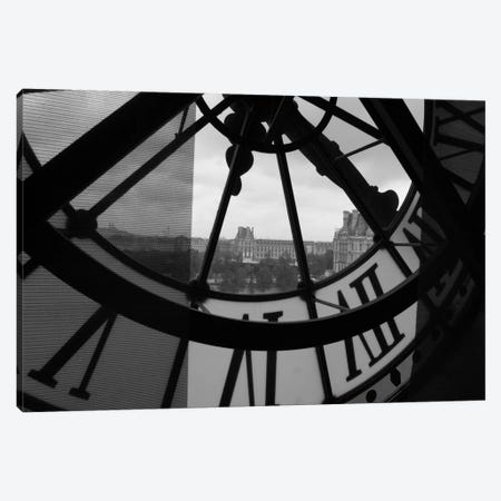 Clock Tower In Paris Canvas Print #18} Canvas Wall Art