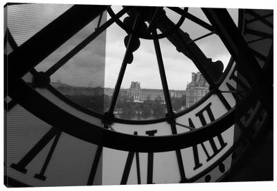 Clock Tower In Paris Canvas Wall Art