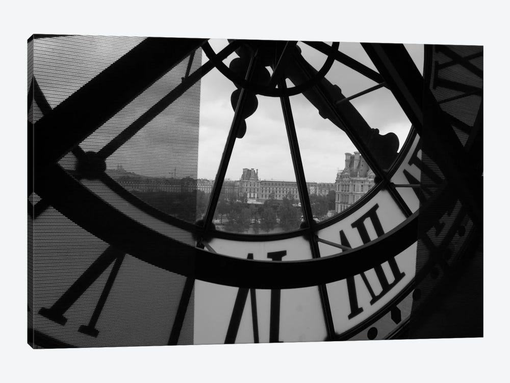 Clock Tower In Paris by Unknown Artist 1-piece Canvas Print