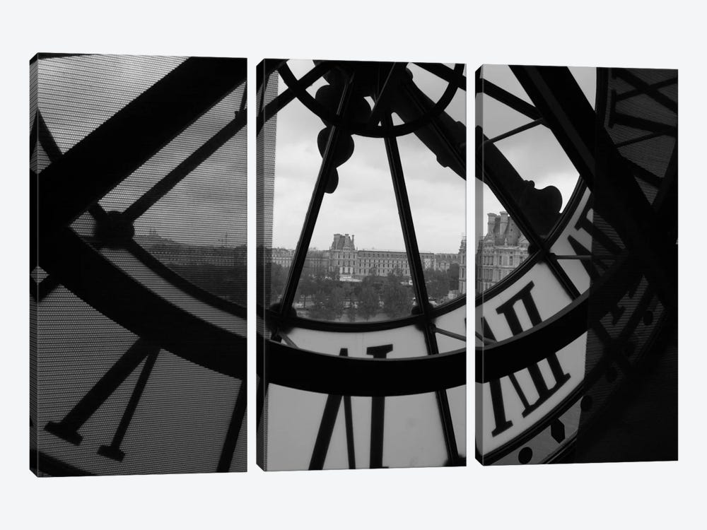 Clock Tower In Paris by Unknown Artist 3-piece Art Print