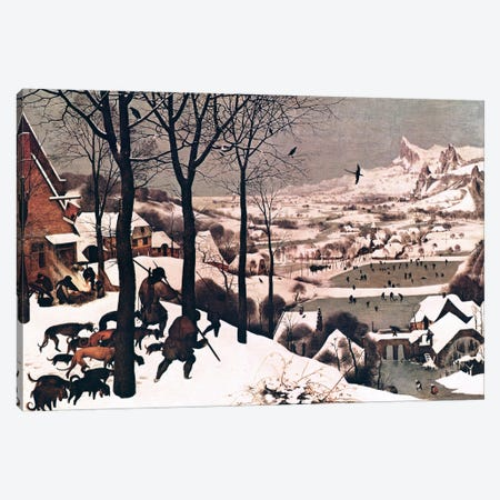 Hunters in The Snow Canvas Print #1916} by Pieter Bruegel Canvas Print