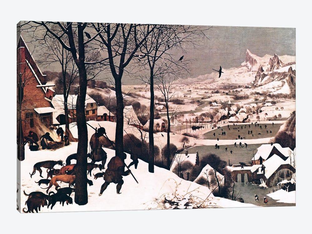 Hunters in The Snow by Pieter Brueghel the Elder 1-piece Canvas Art Print