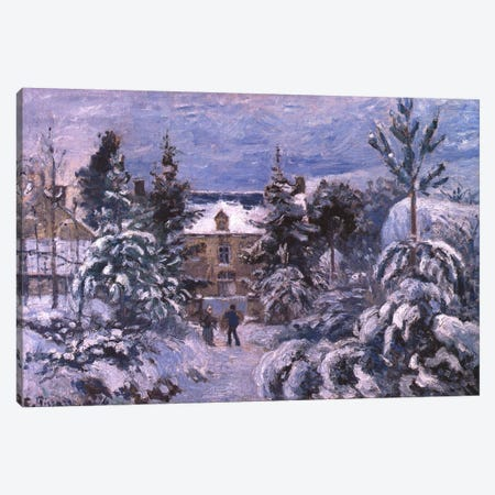 Piettes House Canvas Print #1918} by Camille Pissarro Canvas Art