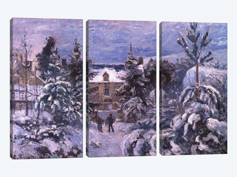 Piettes House by Camille Pissarro 3-piece Canvas Art Print