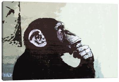 The Thinker Monkey Canvas Art Print