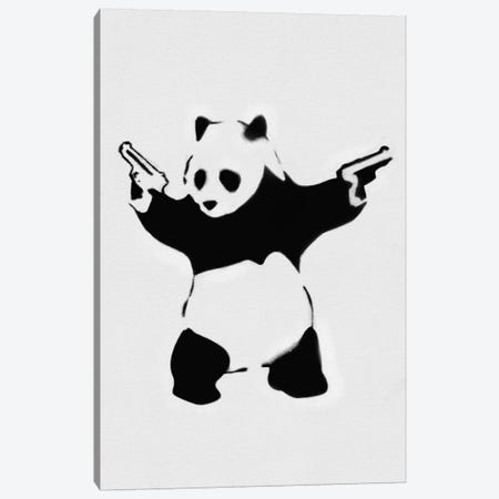 Panda With Guns Canvas Print #2075} by Banksy Canvas Artwork