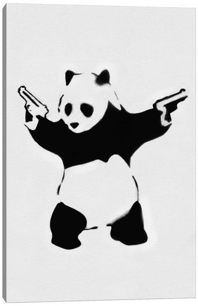 Panda With Guns Canvas Art Print