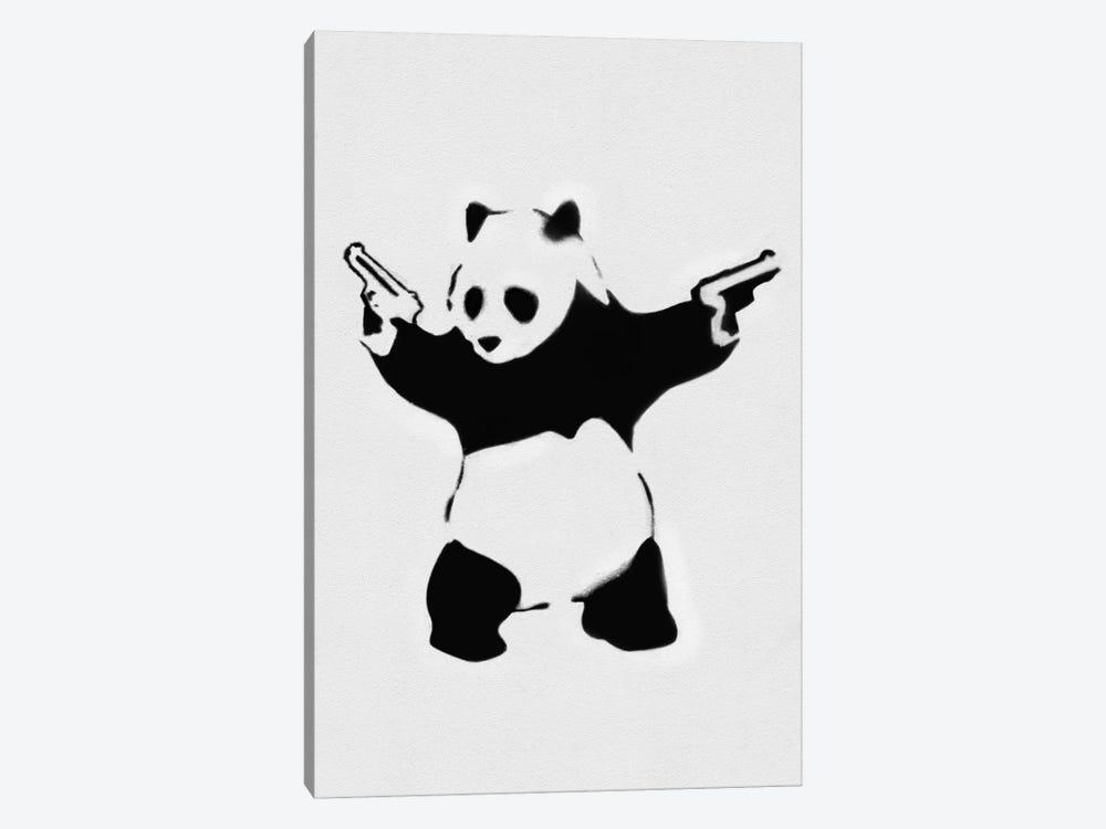 Panda With Guns by Unknown Artist 1-piece Canvas Art