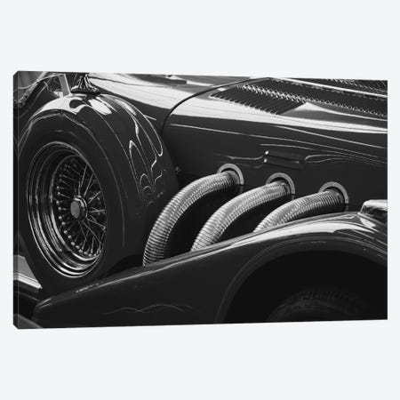 Black And White Vintage Car 3-Piece Canvas #20} by Unknown Artist Canvas Print