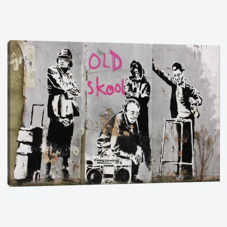 Old Skool Canvas Print #2100} by Banksy Canvas Print