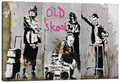Old Skool Canvas Art Print