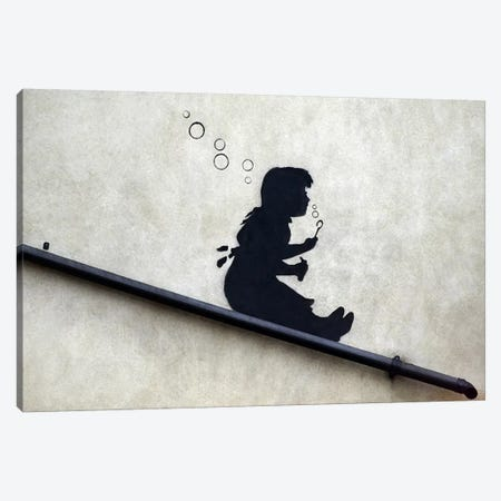 Bubble Girl Canvas Print #2178} by Banksy Canvas Art