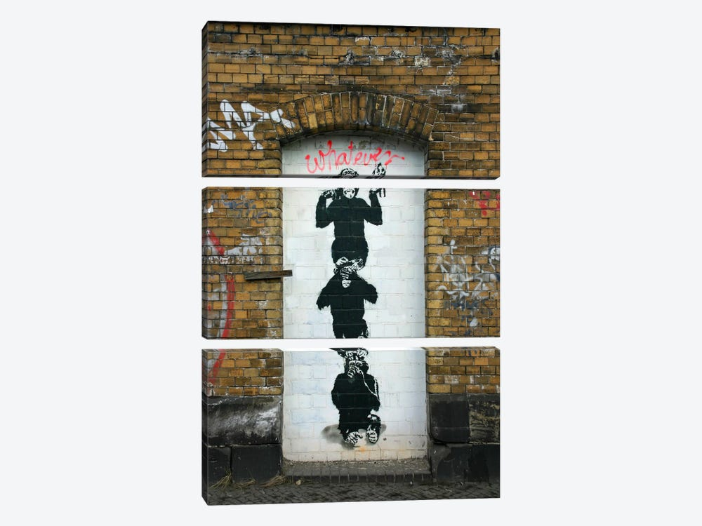 Monkey Business by Banksy 3-piece Art Print