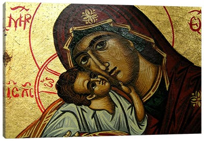 Christian Icon Virgin Mary Canvas Art Print