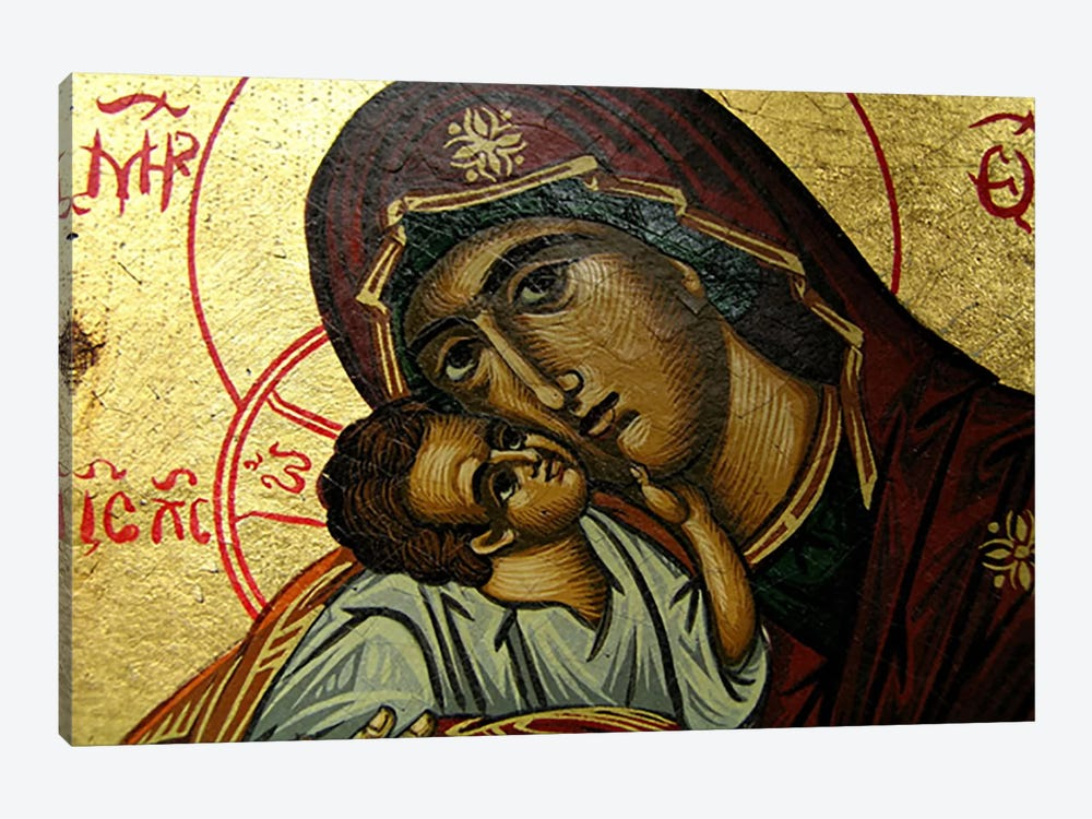 Christian Icon Virgin Mary by Unknown Artist 1-piece Canvas Art