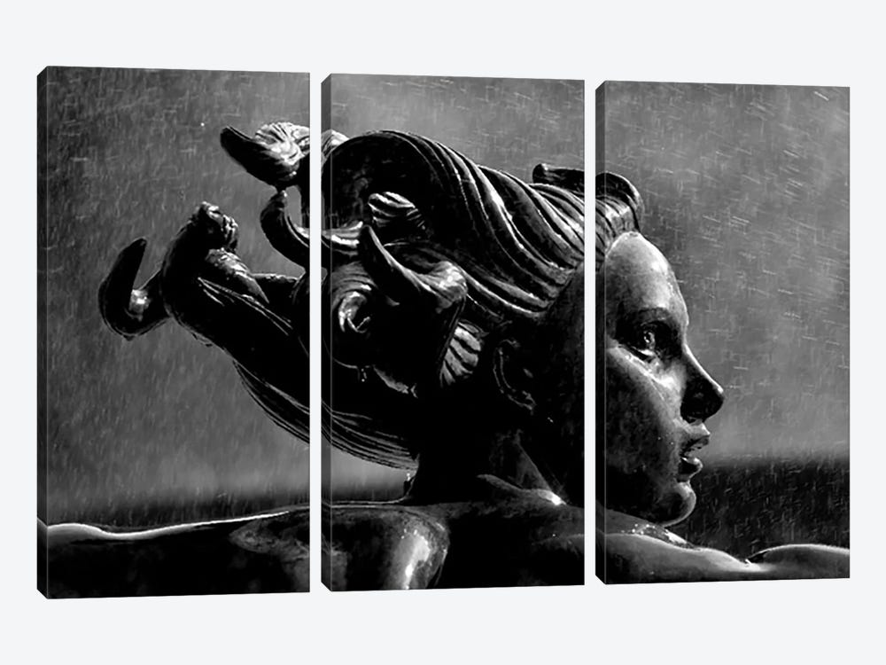 Statue In London 3-piece Canvas Artwork