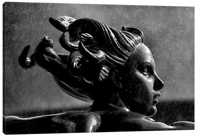 Statue In London Canvas Art Print