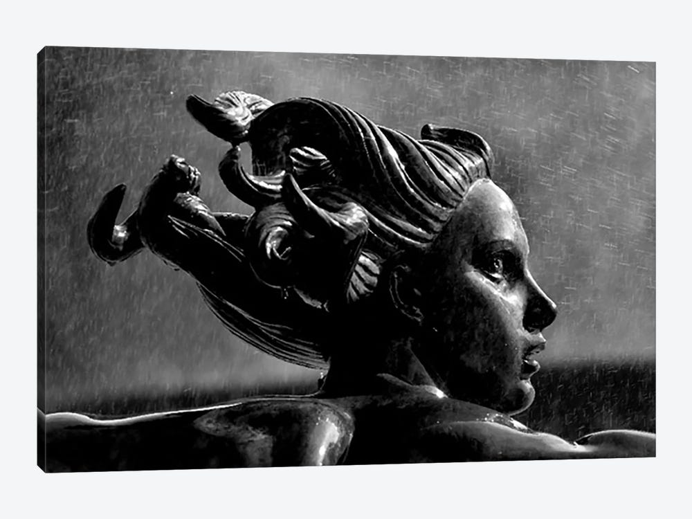 Statue In London by Unknown Artist 1-piece Canvas Art