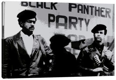 Black Panther Party Canvas Print #252
