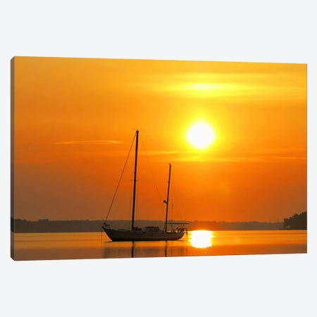 Sunrise Sail Boat Canvas Print #26} by Unknown Artist Canvas Artwork
