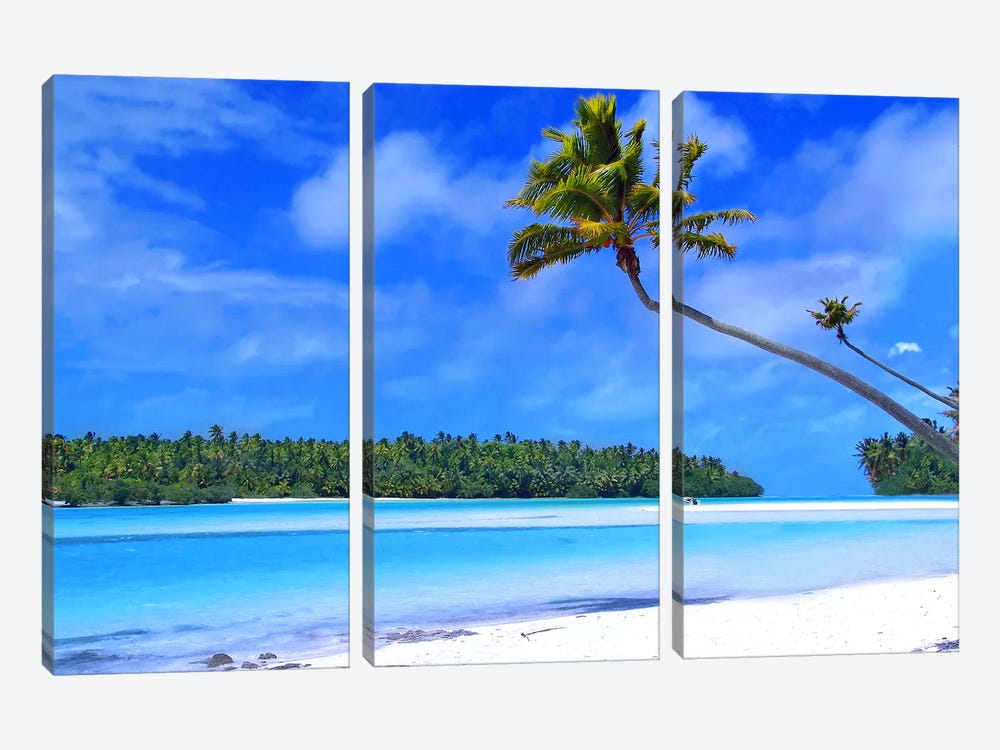 The Island 3-piece Canvas Print