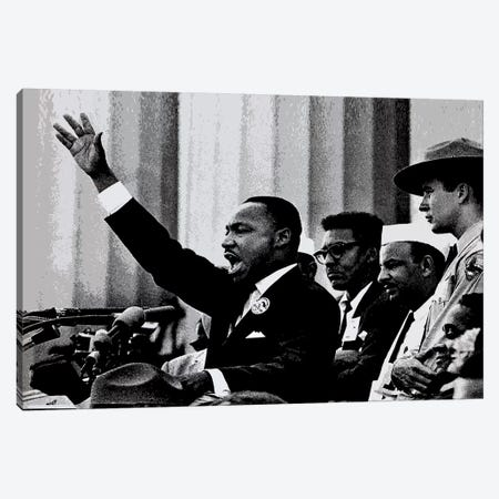 Martin Luther King Canvas Print #292} Canvas Print