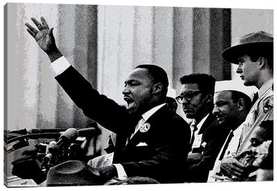 Martin Luther King Canvas Art Print