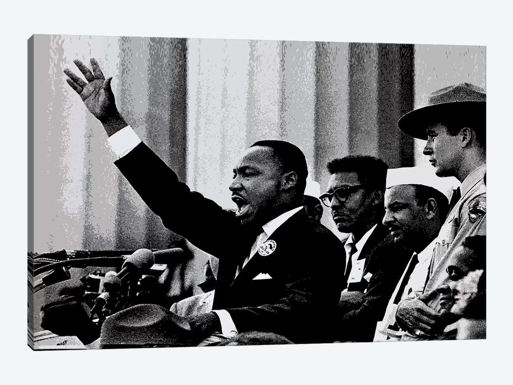 Martin Luther King by Unknown Artist 1-piece Canvas Print