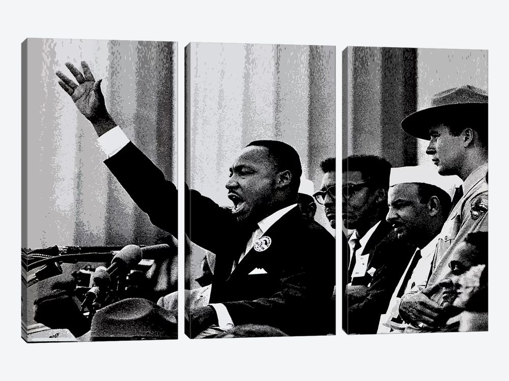 Martin Luther King by Unknown Artist 3-piece Art Print