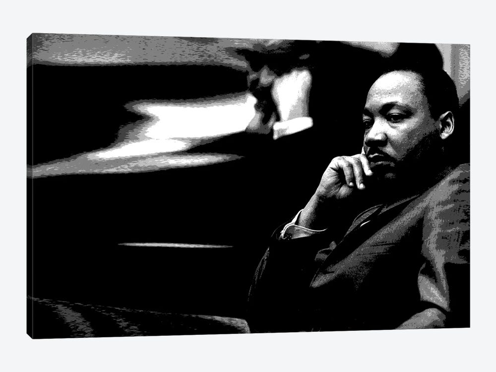 Martin Luther King by Unknown Artist 1-piece Canvas Artwork