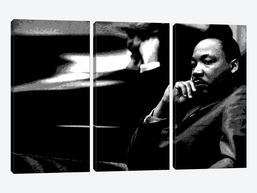Martin Luther King by Unknown Artist 3-piece Canvas Wall Art