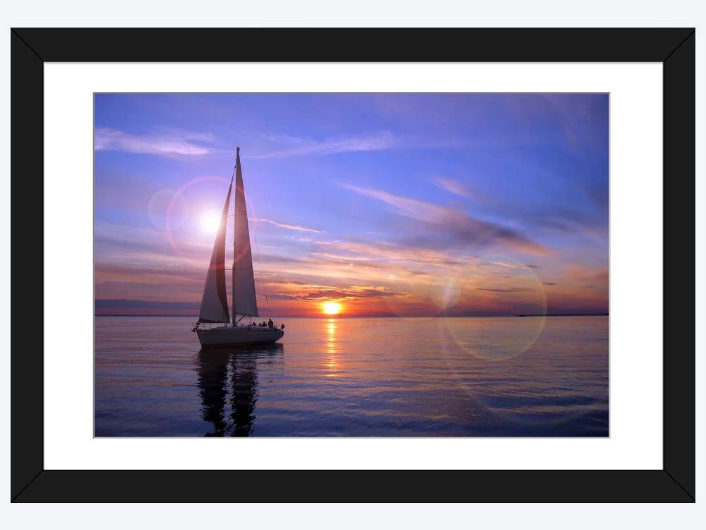 Sailboat Framed Art Print Icanvas
