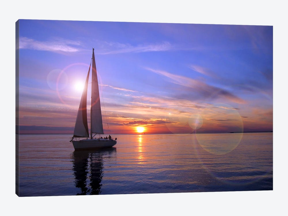 Sailboat by Unknown Artist 1-piece Canvas Print