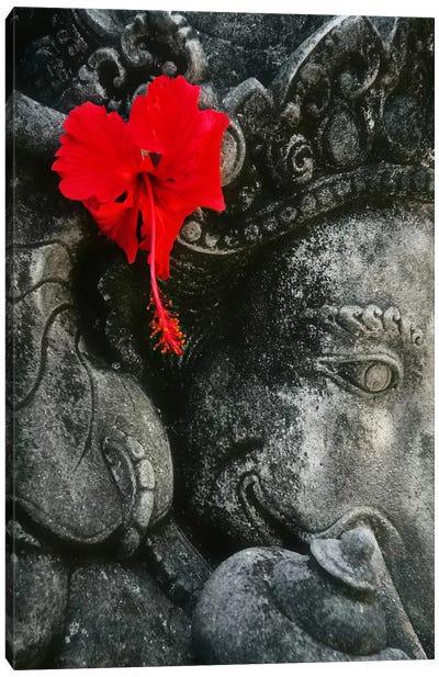 Ganesh Holy Hindu God Statue Canvas Art Print