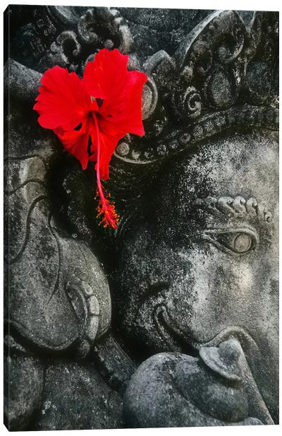 Ganesh Holy Hindu God Statue Canvas Art Print