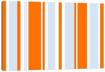 Grand Prix Baby Blue Orange Canvas Print #3000