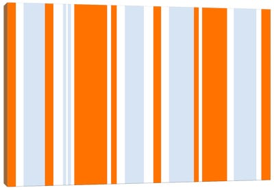 Grand Prix Baby Blue Orange Canvas Art Print