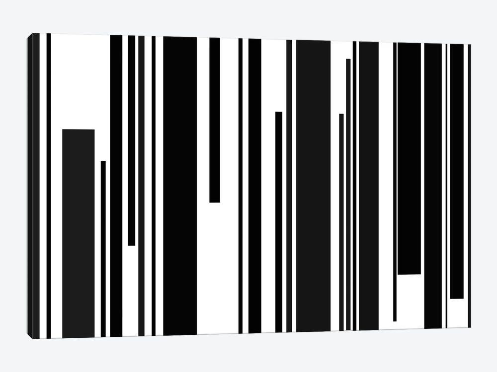 Black & White Piano Keys by iCanvas 1-piece Canvas Artwork
