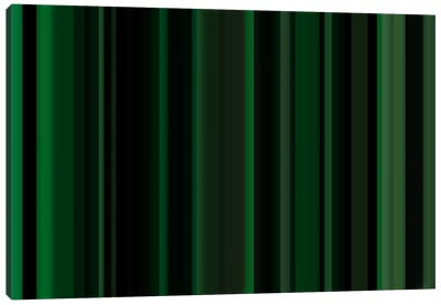 Dark Matrix Green Canvas Art Print
