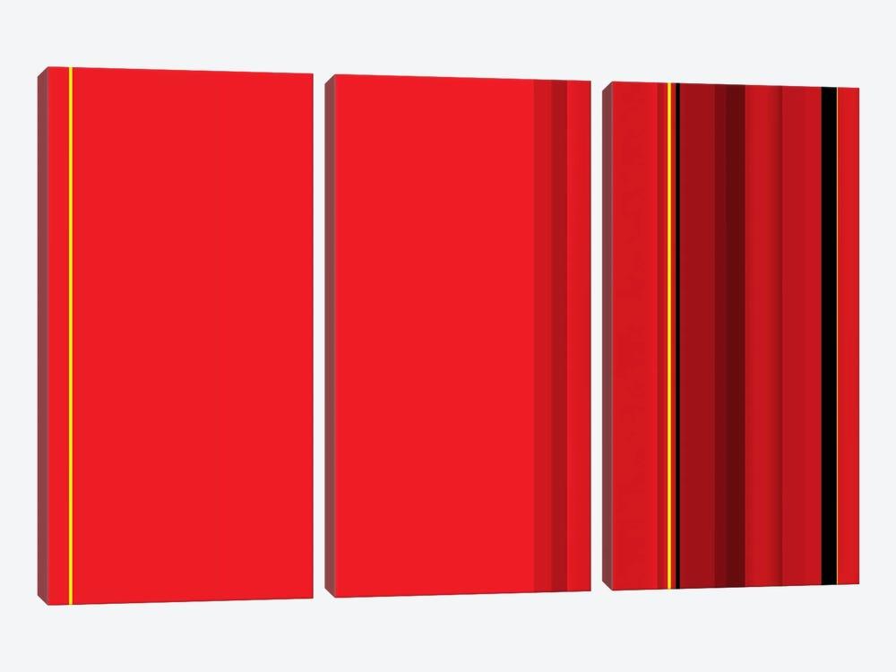 Ferrari Red by iCanvas 3-piece Canvas Wall Art