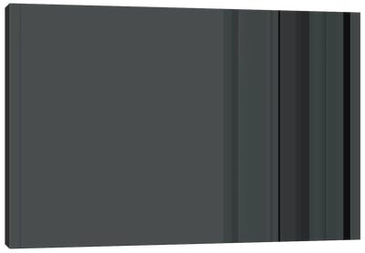 Charcoal Gray Canvas Print #3009