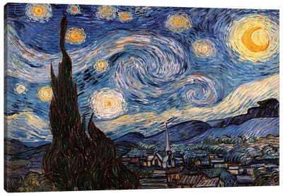 The Starry Night Canvas Print #300